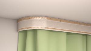 Карниз потолочный для штор KLEVE Галант Меандр 7 трехрядный
