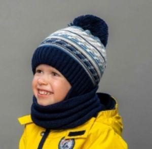 Комплект детский (SHELTER)+(снуд двойной)для мальчика от ТМ Selfiework