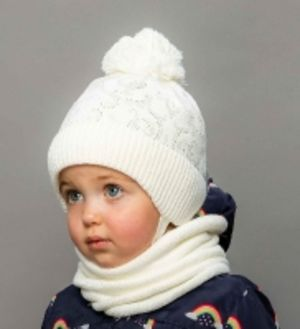 Комплект: Шапка+снуд для девочки Сезон Осень-зима Selfiework