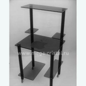 Компьютерный стол КС05 серый Яблоко
