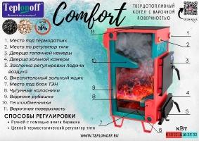 Котлы Teplonoff классические серии Comfort 6кВт - 32 кВт