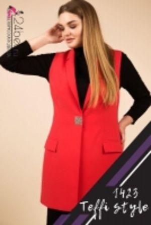 Красный жилет женский