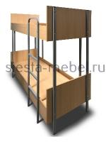 Кровать двухъярусная металлическая «Хостел»