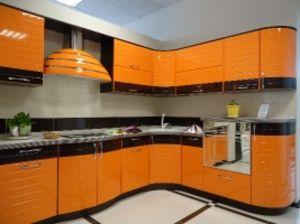 Кухня МДФ глянец фрезерованная