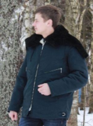 Куртка меховая летная крытая тканью