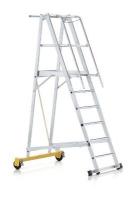 Лестница алюминиевая складная передвижная (Германия)