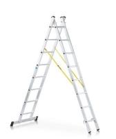 Лестница комбинированная двухсекционная алюминиевая (Германия)