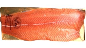 Лосось (сёмга) пласт филе трим Д охлажденный от 1,7 до 2,1 кг.