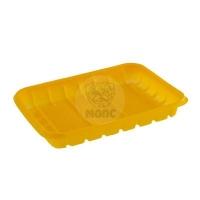 Лоток пластиковый одноразовый желтый 1кг для фасовки и заморозки 50/26/1300