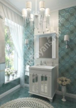 """Мебель для ванной комнаты  """"Giovanni 70"""" , тумба + зеркало"""