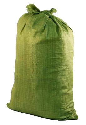 Мешок полипропиленовый зелёный 55х95 см (в упаковке 1000 штук)