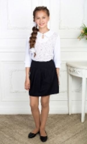 Модные классические блузы и водолазки для девочек