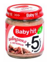 """Мясное пюре """"Baby hit"""" Говядина с печенью"""
