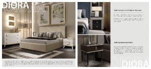 Новинка 2019 Кровати и прикроватные тумбочки Diora