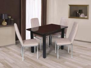 Обеденная группа - Стол Квадро и стулья Ромб
