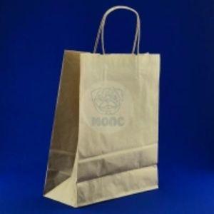 пакет бумажный(240*110*320) Крафт с крученой ручкой 1/250 Код 21300-00018