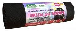 Пакеты Для Мусора 60 литров MirPack (5 мкм, 60x70 см, 30 штук в рулоне). Серия Экономка