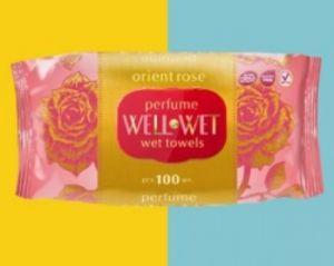 Парфюмированные влажные салфетки Well&Wet Rose