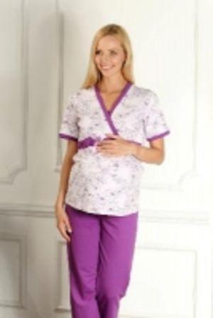 Пижама с запахом короткий рукав Nuova Vita 207