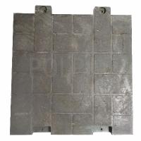 Полимерпесчаная плитка POLPLIT 70х70х7см, c 2-мя креплениями