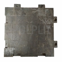 Полимерпесчаная плитка POLPLIT 70х70х7см, с 4 креплениями