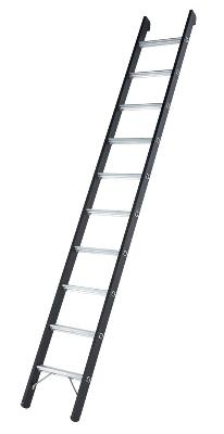 Приставная алюминиевая лестница с большой грузоподъемностью (Германия)