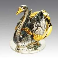 Серебряная салфетница Лебедь