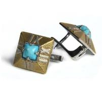 Серебряные серьги «Часы»