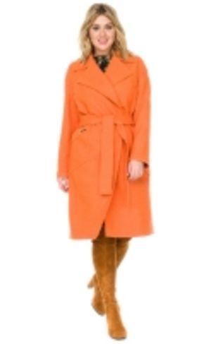Шерстяное пальто женское большого размера