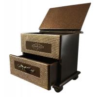 Шикарная шкатулка с декоративной отделкой (22см х 17см, выс. 20,5см)