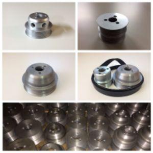 Шкив помпы двигателя ЗМЗ 405-409 и евро 4 алюминиевый уменьшенный под стандартный ремень