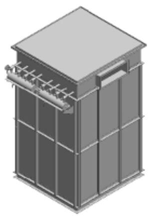 Силосный (напорный) рукавный фильтр