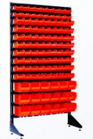 Складской стенд с лотками под метизы
