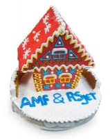 Сладкие бизнес-подарки — пряничные домики с логотипом