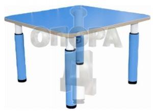 Стол детский 800х800мм, на регулируемых телескопических опорах (ножках), гр.00-2, 0-3