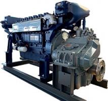 Судовой дизель-редукторный агрегат модель ДРА367/2100 серия WP12-AD
