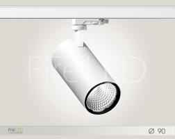 Светильник трековый светодиодный TL 065.1 (ГАТТИ 90) 25÷32 Вт