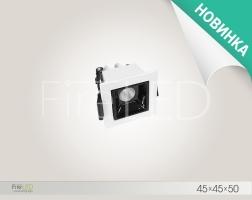 Светильник встраиваемый светодиодный DL 009.1 (СТЕЛС 1L) 3 Вт