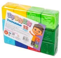 Тактильные кубики 12 штук в пакете