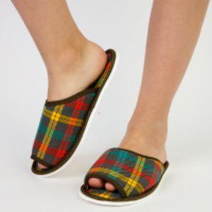 Тапочки женские открытые (шотландка)