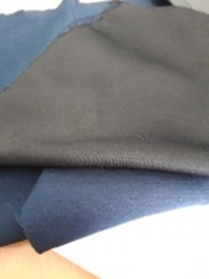 Ткань костюмная 150 см., т\синяя , черная