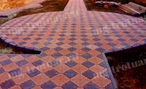 Тротуарная плитка Гжелка (Гжель, Клевер краковский)