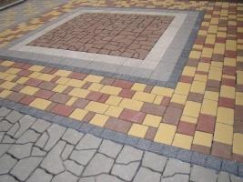 Укладка бетонной тротуарной плитки цена