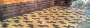 Укладка тротуарной плитки на участке