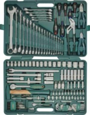 """Универсальный набор торцевых головок 1/4""""DR 4-13 мм и 1/2""""DR 8-32 мм, комбинированных ключей 6-32 мм и отверток, 128 предметов, код товара: 48372, артикул: S04H524128S"""