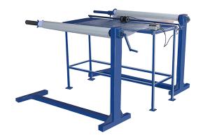 Устройство (станок) для перемотки/отмотки рулонных материалов (пленки ПВХ, ткани) УПРМ-1300-70-50Р