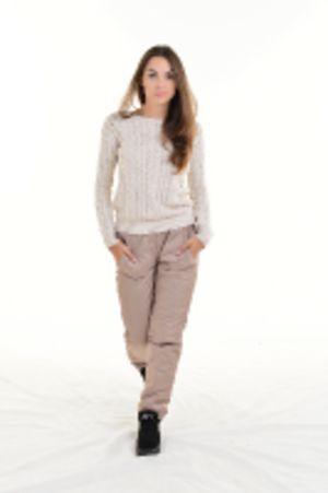 Утепленные зауженные женские брюки