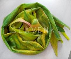 Валяный шарф палантин