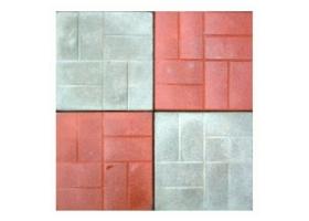 Вибролитая бетонная тротуарная плитка 400х400х50 гладкая и 8 кирпичей