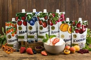 """Ягода протертая с сахаром """"Сибирская ягода"""""""